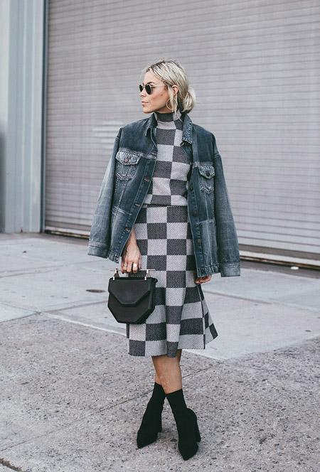 Стильные образы с джинсовой курткой, 18 фото с улиц