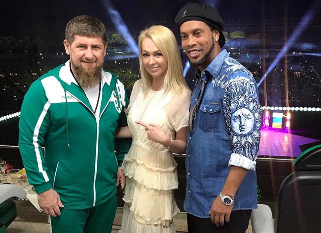 Рудковская, Тимати, Роналдиньо и другие на празднике в честь футбольного клуба Рамзана Кадырова