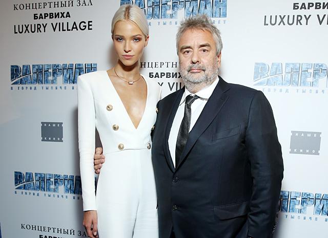 Люк Бессон и Саша Лусс представили фильм «Валериан и город тысячи планет» в Москве